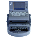 Miniature Toshiba w/élan Mira® machine for older court reporting software