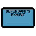 Defendant's Exhibit Label, Blue - 252 per pack