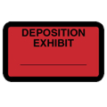 Deposition Exhibit Label, Red - 252 per pack