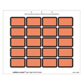 Laser Exhibits-U-Create Labels, Orange - 240 per pack