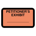 Petitioner's Exhibit Label, Orange - 252 per pack