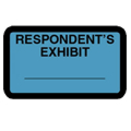 Respondent's Exhibit Label, Blue - 252 per pack