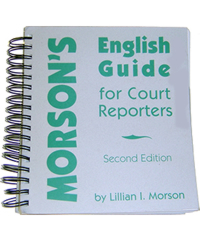 Morson's English Guide for Court Reporters Second Edition