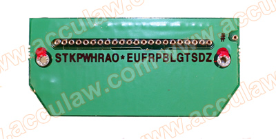 Stenograph® Stentura® 8000LX Key Contact/Switch Plate Assembly
