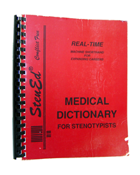 Realtime Medical Dictionary for Stenotypists