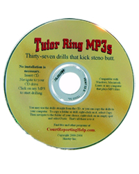 Tutor Ring MP3s - 37 Drills that kick steno butt