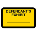 Defendant's Exhibit Label, Yellow - 252 per pack