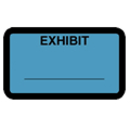 Exhibit Label, Blue - 252 per pack