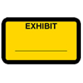 Exhibit Label, Yellow - 252 per pack