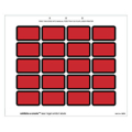 Laser Exhibits-U-Create Labels, Red - 240 per pack