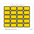 Laser Exhibits-U-Create Labels, Yellow - 240 per pack