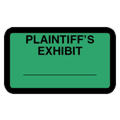 Plaintiff's Exhibit Label, Green - 252 per pack