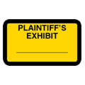 Plaintiff's Exhibit Label, Yellow - 252 per pack