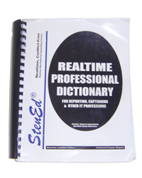 StenEd Realtime Professional Dictionary for Reporting, Captioning & other IT Professions