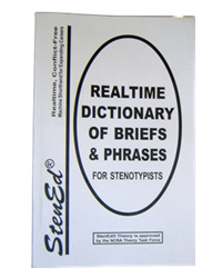 StenEd Realtime Dictionary of Briefs & Phrases